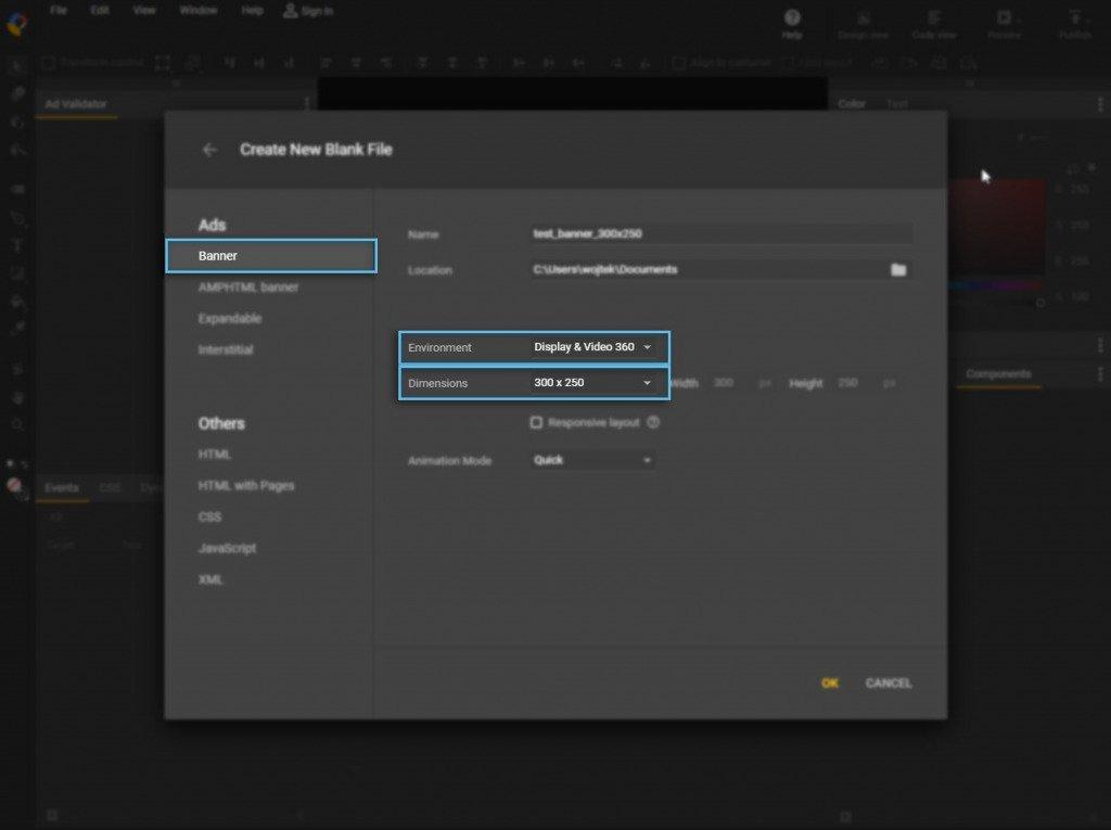 New Creative /  DV360 / Google Web Designer
