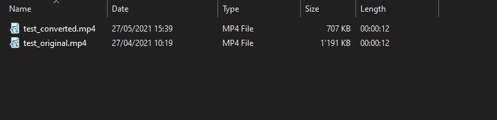Rich Media Creative / HandBrake / Final exported file size