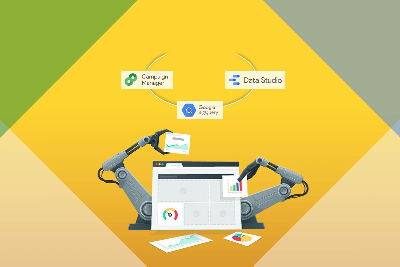 5 steps to automate Google Marketing Platform reporting • BigQuery & Google Data Studio