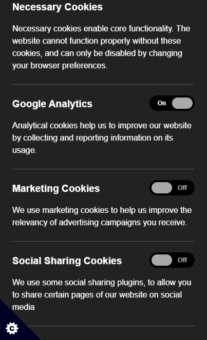 msi.com / Example Cookie Consent Screen