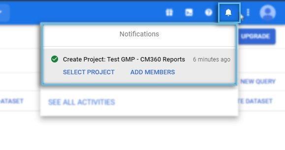 Google Cloud Platform / Notification / Add Members