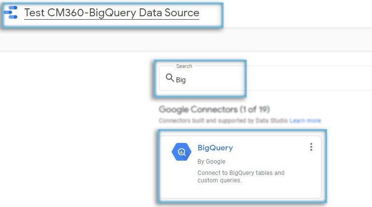 Google Data Studio / Data Source / Connectors