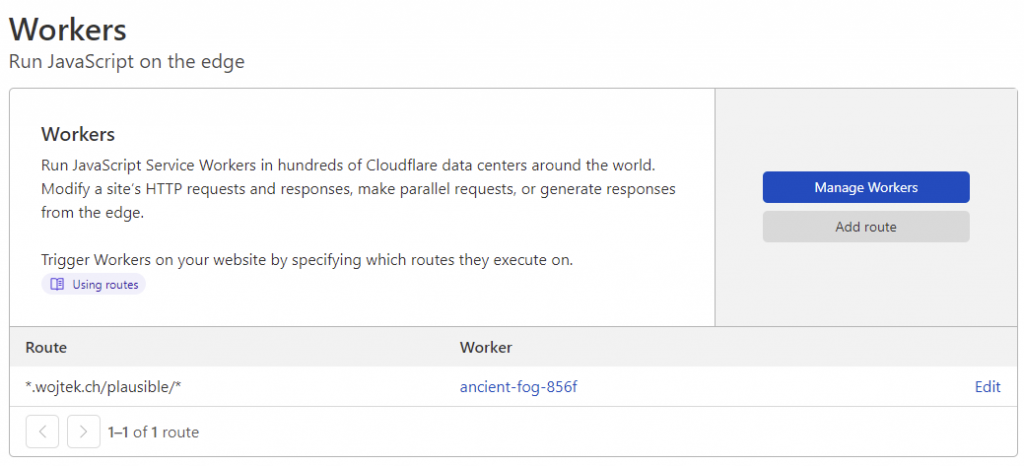 Cloudflare / Worker / Proxy for Plausible Analytics